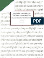 Criterios Para Evaluar Informacion de Internet