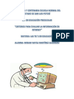 criterios para evaluar la información en internet