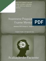 Anamnese Psiquiátrica e Exame Mental