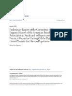 1911 Carnegie Foundation eugenics report,