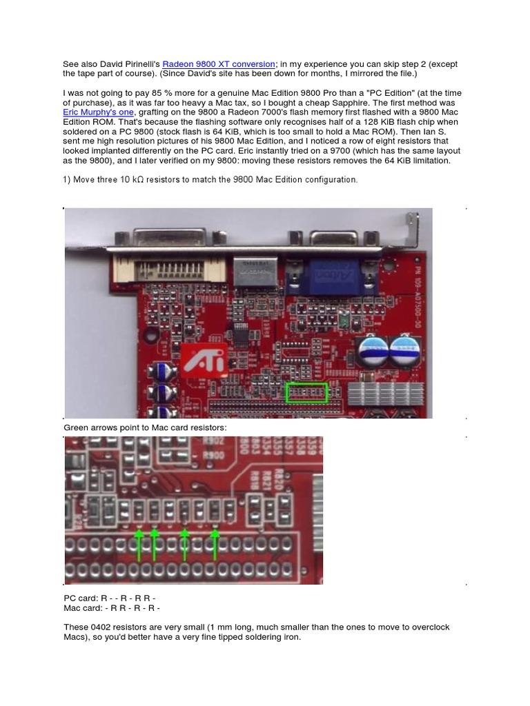 Radeon 9800 Pc To Mac Conversion