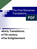 History of Romanian Translation