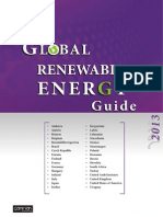 Global Renewable Energy Guide 2013