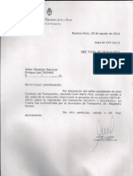 Respuesta - Pedido de Infromes - Regulación de transporte terrestre y aeronáutico