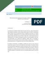 Persistencia de atrazina y efectos fitotóxicos - soja