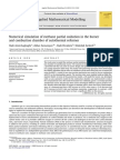 """""""Numerical simulation of Methane Partial Oxidation in the burner and combustion chamber of Autothermal Reformer"""""""