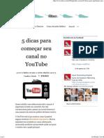 5 dicas para começar seu canal no YouTube _ Heat