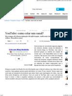 YouTube_ Como Criar Um Canal