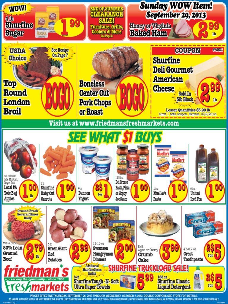 Friedman's Freshmarkets - Weekly Ad - September 26 - October 2, 2013