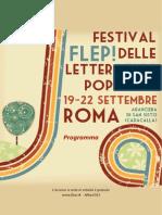 Flep, narrazioni popolari, 19-22 settembre, il programma