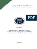 Relazione Annuale, Volume Primo - Cnel-2012