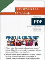 Culture of Yerala College