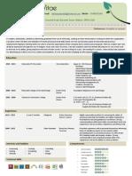 Standard CV in PDF format