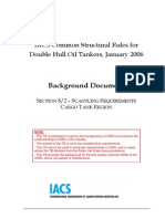 Backgournd Document Section 8 Scantling Requirements IACS Oil Tankers