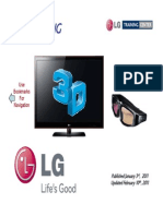 LG 3D TV -Training-Presentation Manual