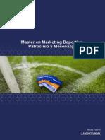 Master en Marketing Deportivo, Patrocinio y Mecenazgo