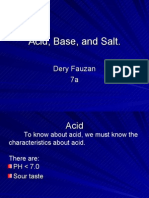 Acid, Base, And Salt