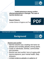 Harmful health behaviours among conflict-affected populations in Georgia