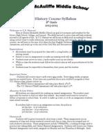 2013-2014 us history syllabus