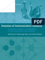 D. Kimbrough Oller, Ulrike Griebel-Evolution of Communicative Flexibility_ Complexity, Creativity, And Adaptability in Human and Animal Communication (Vienna Series in Theoretical Biology)-The MIT Pre