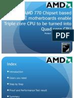 Gigabyte MA770 AMD CPU 4th Core Enabling by ACC