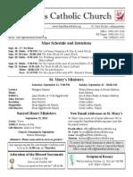 Bulletin for September 15, 2013