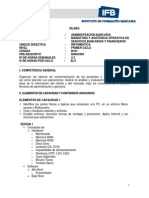 Syllabus Informatica IFB