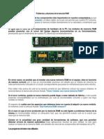 Problemas y Soluciones de La Memoria RAM