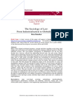 Banakar-Sociology of Law, From Industrialization to Globalization