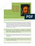 Essential Chronologyof the Life of  ST. Anthony MaryZACCARIA