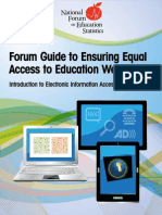 Forum Guide to Ensuring Equal Access to Education Website