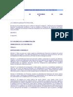 LEY ORGÁNICA DE LA ADMINISTRACIÓN FINANCIERA DEL SECTOR PÚBLICO.doc