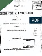 Anuario de la Oficina Central Meteorolójica de Santiago de Chile 1886