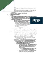 Commercial Transactions- Midterm 1 Outline