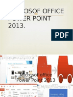 Microsof Office Power Point 2013