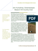 John Humphrey GreensKeeper and Rutgers Golf Turf Management School grad