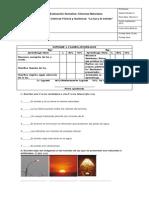 Evaluación ciencias luz y sonido 3ros