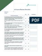 Hybrid Checklist