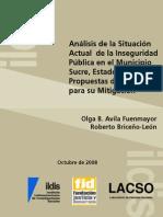 Inseguridad en El Municipio SucreDocumento ILDISOlgaAvila