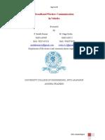 Broadband Wireless Comm in Vehicles Jntu Anantapur