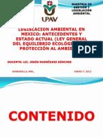 Material Legislacion Ambiental en Mexico 2013