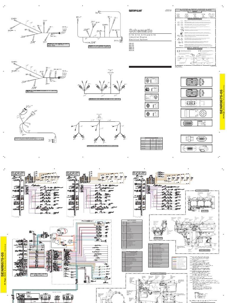 CAT - C12, C13, C15 - Electric Schematic. Description: Cat C Ecm Wiring  Diagram
