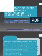 Homeostasis Del Cloro, Sus Desequilibrios Importancia Acido