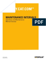 G3408 and G3412 Engines Maintenance Intervals