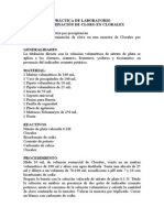 Practica de Laboratorio - Determinacion de Cloro en Cloralex