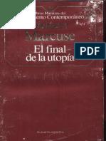 Marcuse El Final de La Utopia