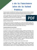 Funciones Esenciales en Salud Pública