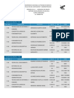horarios FCA UNAM