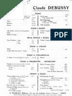 Debussy - 3 Chansons de Bilitis