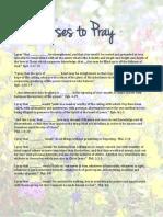 Verses to Pray